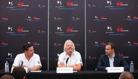 VIRGIN RACING AND DS BRAND ANNOUNCE THEIR PARTNERSHIP IN FORMULA E CHAMPIONSHIP
